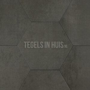 Hexagon - Zeshoek tegels betonlook donker grijs 23x26,5