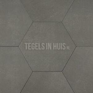 Hexagon - Zeshoek tegels betonlook grijs 23x26,5