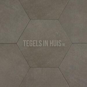 Hexagon - Zeshoek tegels betonlook taupe 23x26,5