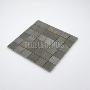 Mozaiek Gerhy 5x5 Acero donkergrijs per matje 30x30