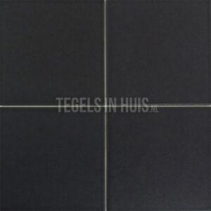 Vloertegel Silk zwart 20x20(19,7x19,7) cm