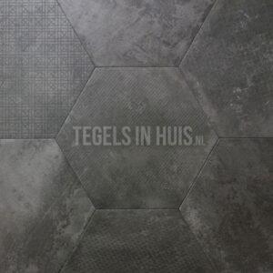 Hexagon Decor - Zeshoek tegels donker grijs 25x30cm