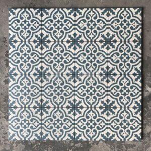 Vloertegel Berkeley Blue 45x45 cm ( 4 in 1 tegel ) vintage