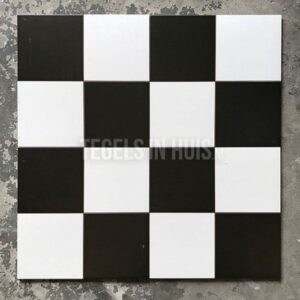 Vloertegel Checker 45x45 cm ( 4 in 1 tegel ) vintage