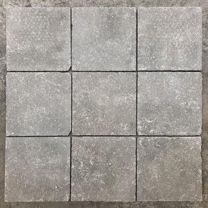 Vloertegel new belgium stone hardsteen look grijs 20x20cm getrommeld