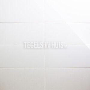 Wandtegel Glans Wit 30x60 niet gerectificeerd