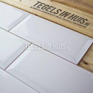 Wandtegel metrotegel 10x20 wit glans