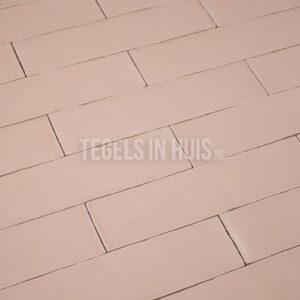Langwerpige witjes 7,5x30 cm handvorm wandtegel glans Roze