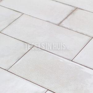 Wandtegel Esens 15x30 blanco glans genuanceerd