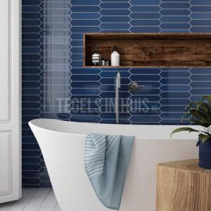 Wandtegel Arrow Adriatic Blue blauw 5x25
