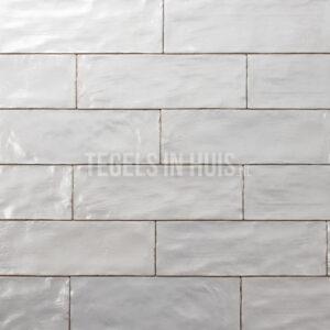 wandtegel 6 5x20 wit handvormlook white tozcw144