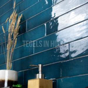 wandtegel 6 5x40cm manacor glacier blauw handvorm glans tozcw869